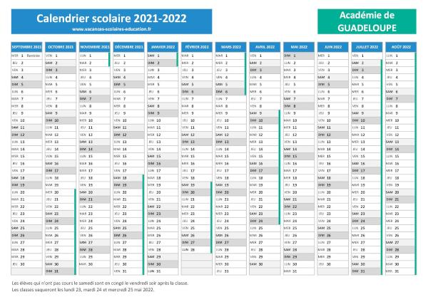 Calendrier Carnaval Guadeloupe 2022 Vacances scolaires Guadeloupe   Calendrier scolaire 2021 2022 et