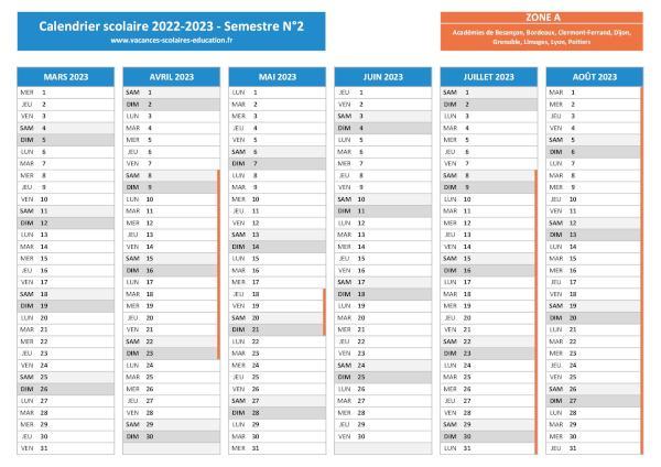 Calendrier Universitaire La Rochelle 2022 2023 Vacances scolaires Poitiers   Calendrier scolaire 2021 2022 et